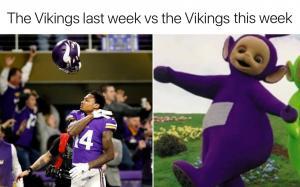 The Vikings last week vs the Vikings this week