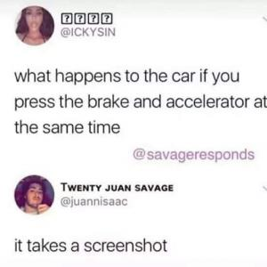 What happens to the car if you press the brake and accelerator at the same time