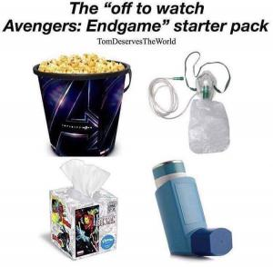 "The ""off to watch Avengers: Endgame"" starter pack"