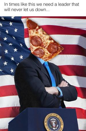 In times like this we need a leader that will never let us down...